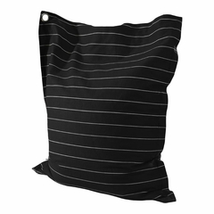 Black and White Wide Pin Stripe Anywhere Lounger - Powell Furniture - POWELL-199-B014