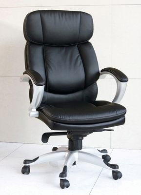 Black Bycast PU Office Chair with Pneumatic Lift - Minta - 09768