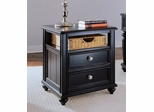 Black Camden Accent Table with Basket - Lea American Drew - 919-915