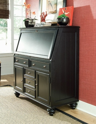 Black Camden Work Station - Lea American Drew - 919-945