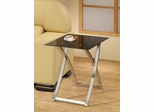 Black & Chrome Snack Table - 901014