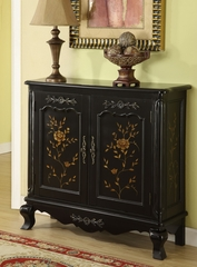 Black Console with Hand Painted Doors - Powell Furniture - 246-334