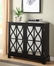Black Console with Mirrored Glass Doors - Powell Furniture - 246-254