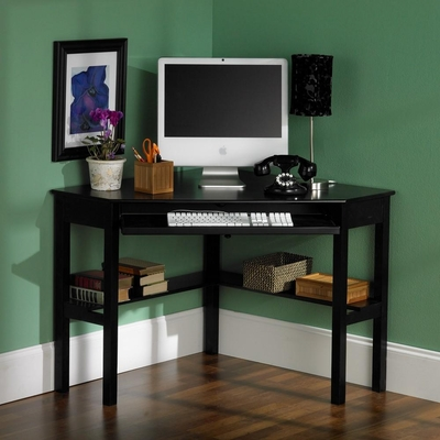 Black Corner Computer Desk - Holly and Martin