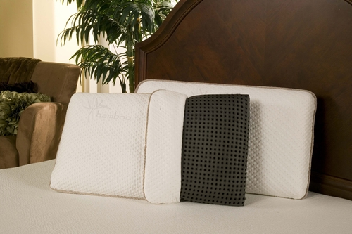 Black Diamond Ventilated Queen Euro Memory Foam Pillow