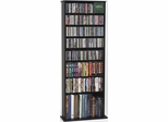 Black DVD Storage Rack - Leslie Dame DVD Storage - CDV-500BLK