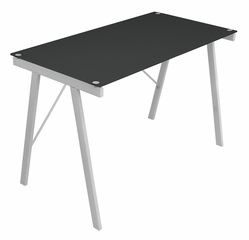 Black Exponent Office Desk - LumiSource - OFD-TM-PBLNK BK