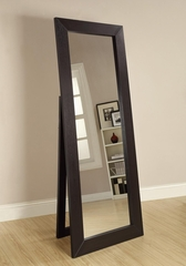 Black Finish Floor Mirror - 900453