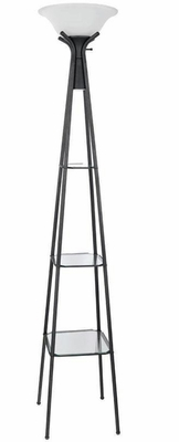 Black Floor Lamp with Shelves - 901420