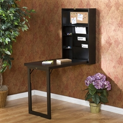 Black Fold-Out Convertible Desk - Holly and Martin
