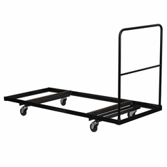 Black Folding Table Dolly for Rectangular Folding Tables - NG-DY3072-GG