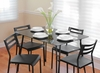 Black Harmony Dining Set - LumiSource - DS-CF-UNT-BK-BK