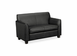 Black Leather Loveseat- BSXVL872ST11