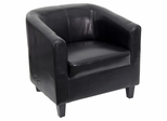 Black Leather Office Side Chair / Reception Chair - BT-873-BK-GG