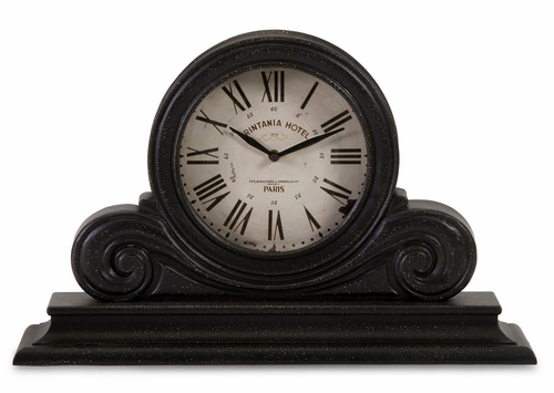 Black Mantle Clock - IMAX - 16130