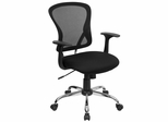 Black Mesh Executive Office Chair - H-8369F-BLK-GG