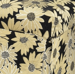"Black Peppercorn Floral Skirted ""Slip Over"" (Fits 741-440 Chair) - Powell Furniture - 741-266Z"