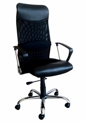 Black PU and Mesh Office Chair - Lawndale - 09747