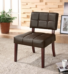 Black PU Side Chair - Ezrela - 10088
