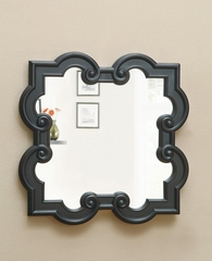 Black Quatrefoil Mirror - 900698