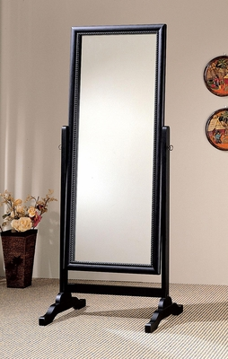 Black Rectangular Cheval Mirror - 900168