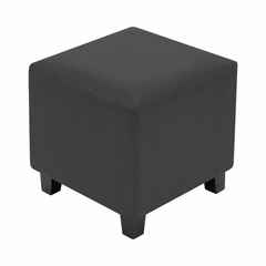 Black Serpent Cube Ottoman - Lumisource