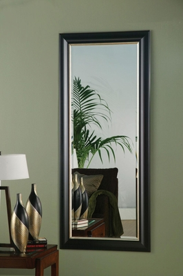 Black & Silver Framed Floor Mirror - 900671