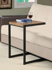 Black Snack Table with Warm Oak Top - 900276