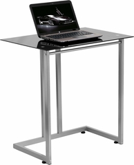 Black Tempered Glass Computer Desk - NAN-2905-GG