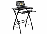 Black Tempered Glass Computer Desk - NAN-CP-60-GG
