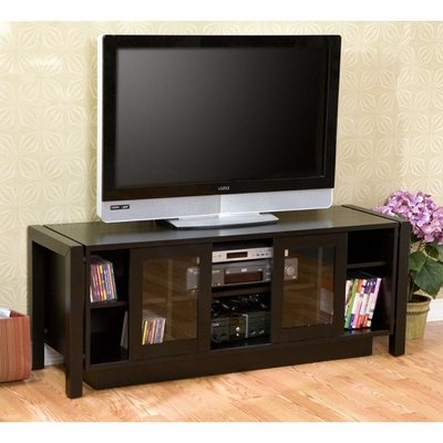 Black TV Stand/ Media Console - Holly and Martin