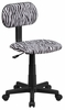Black & White Zebra Print Computer Chair - BT-Z-BK-GG