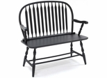 Black Windsor Bench - Carolina Chair - 42-36