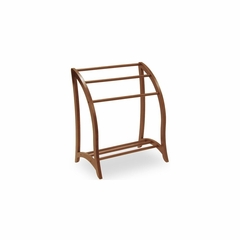 Blanket Rack Stand in Antique Walnut - Winsome Trading - 94036