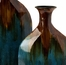 Blaze Blue Drip Bottles (Set of 2) - IMAX - 12930-2