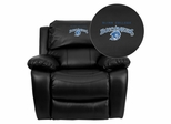 Blinn College Buccaneers Black Leather Rocker Recliner - MEN-DA3439-91-BK-41007-EMB-GG