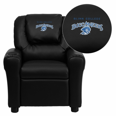 Blinn College Buccaneers Embroidered Black Vinyl Kids Recliner - DG-ULT-KID-BK-41007-EMB-GG