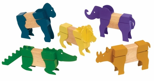 Block Mates Safari Animals - Guidecraft - G7603