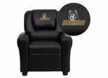 Bloomsburg University Huskies Embroidered Black Vinyl Kids Recliner - DG-ULT-KID-BK-41008-EMB-GG