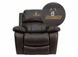 Bloomsburg University Huskies Leather Rocker Recliner - MEN-DA3439-91-BRN-41008-EMB-GG