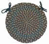 "Blossom Blue 15"" Braided Chair Pad - Rhody Rug - BL-9715CPBL"