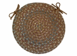 "Blossom Gold 15"" Braided Chair Pad - Rhody Rug - BL-8715CPGO"