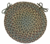 "Blossom Moonstone 15"" Braided Chair Pad - Rhody Rug - BL-4715CPBM"