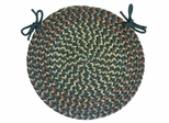 "Blossom Teal 15"" Braided Chair Pad - Rhody Rug - BL-6715CPTE"