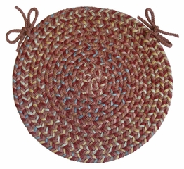 "Blossom Terracotta 15"" Braided Chair Pad - Rhody Rug - BL-7715CPTC"