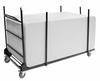 Blow Mold Folding Table Cart for Rectangle Tables - 8068BK