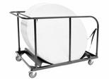 Blow Mold Folding Table Cart for Round Tables - 8067BK
