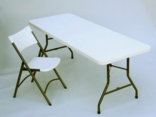 "Blow Molded 30"" x 60"" Food Service Table - Correll Furniture - FS3060"