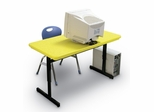 "Blow-Molded Adjustable Height Computer Table 24"" x 48"" - Correll Office Furniture -"