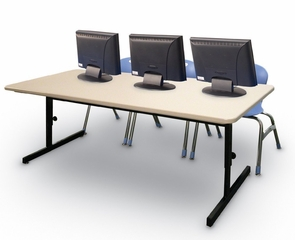 "Blow-Molded Adjustable Height Computer Table 30"" x 60"" - Correll Office Furniture -"